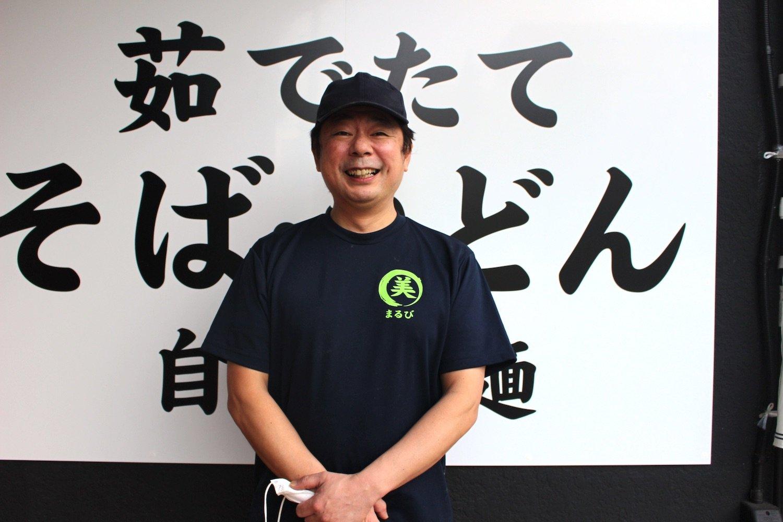 店主の古瀬博文さんはもともと立ち食いそば好き。