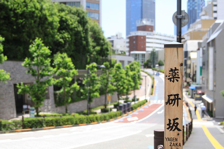 赤坂という地名通り、薬研坂をはじめ坂が多いのも街の特徴。
