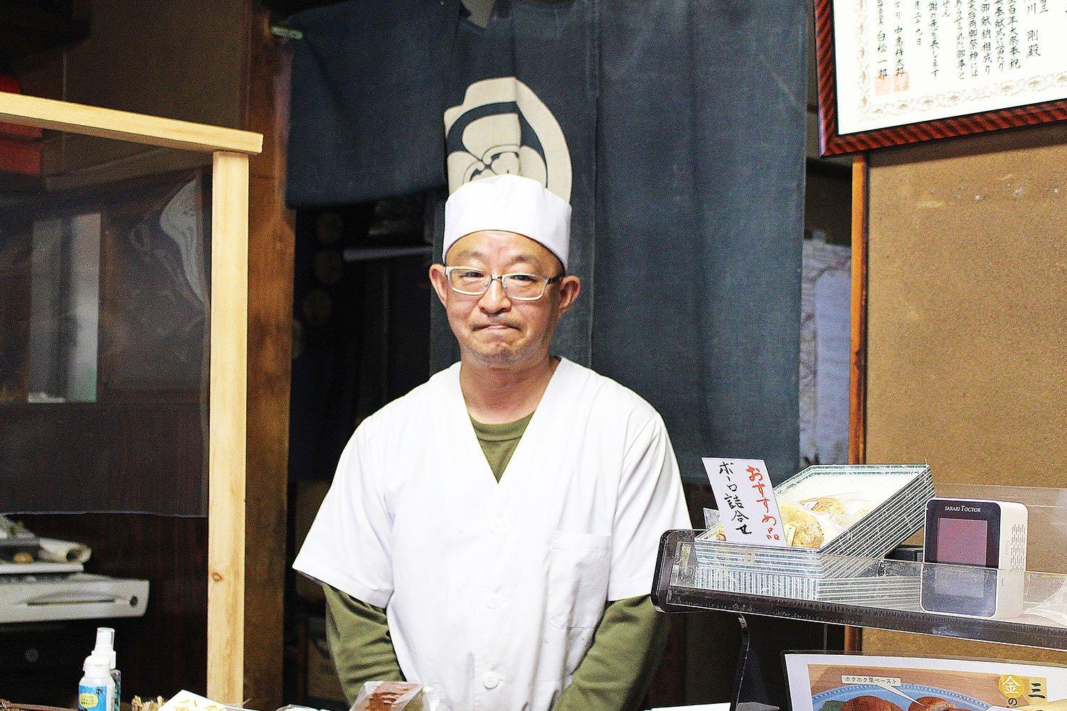 3代目店主の石川剛さん。