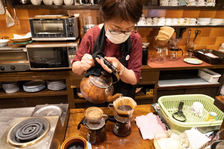 銅製のやかんは3代目。