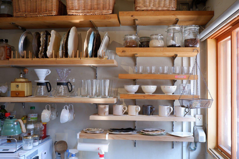お店で使用している陶器はすべて片桐さんの手作り。