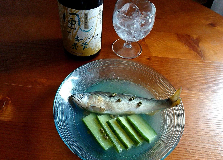 つまみと日本酒