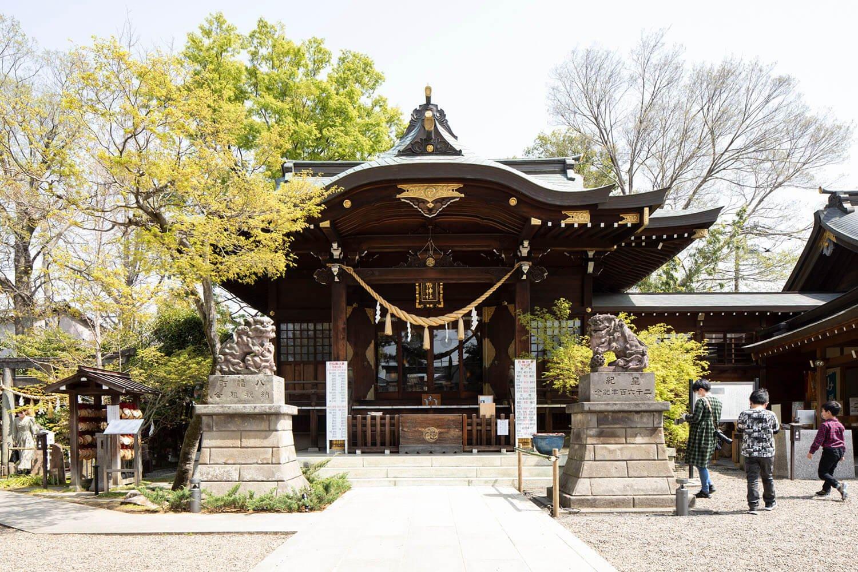 癌封じのほか、ぼけ封じや難病封じにご利益があるとされる行田八幡神社。