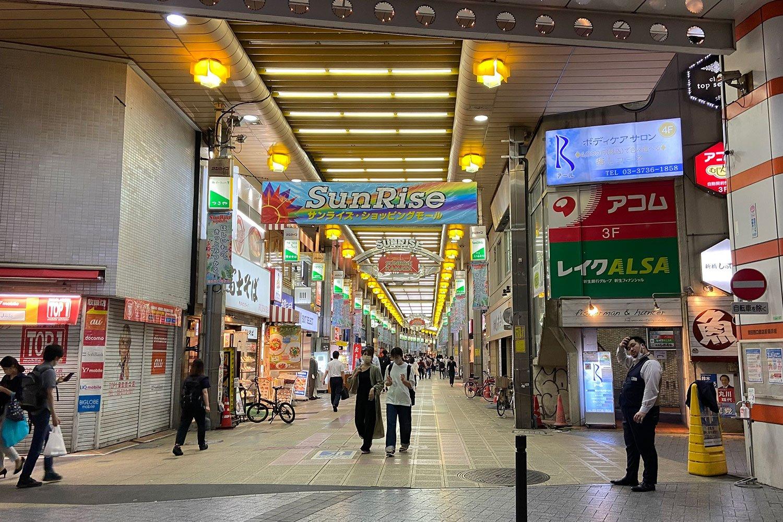 蒲田 アーケード商店街「サンロード蒲田」