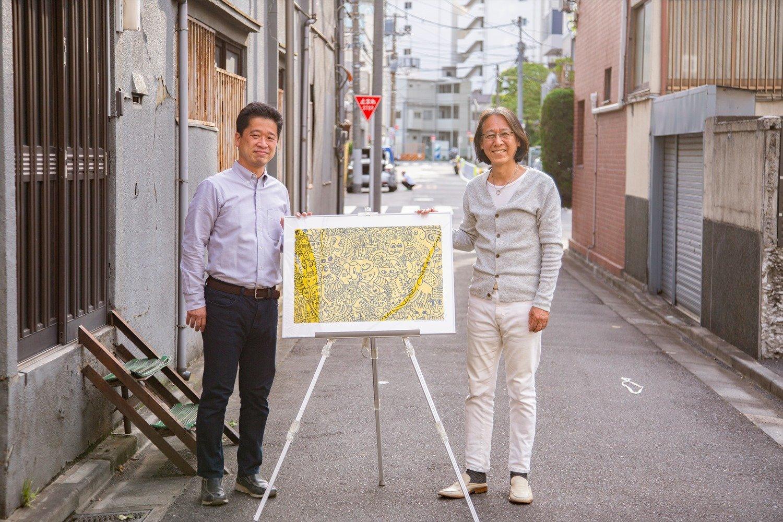 実行委員長 田巻雄太郎さん(左)と総合プロデューサー 福島 治さん。