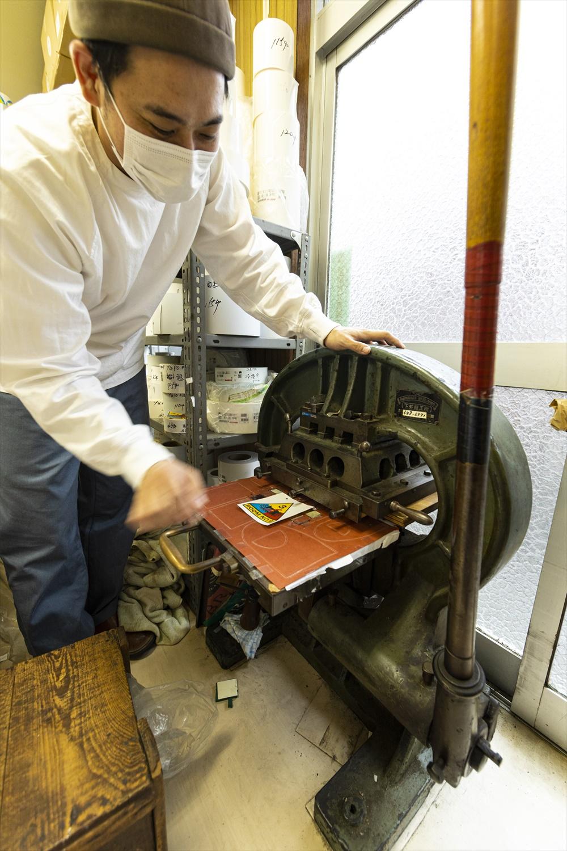 昔の手動印刷機。