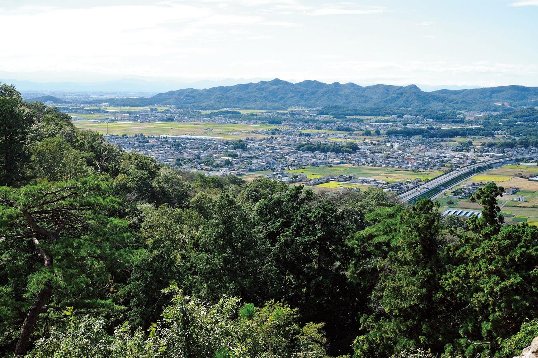 本丸の西側に天狗岩があるが、そこは物見台になっている。抜群の展望で東京まで見えるとか。