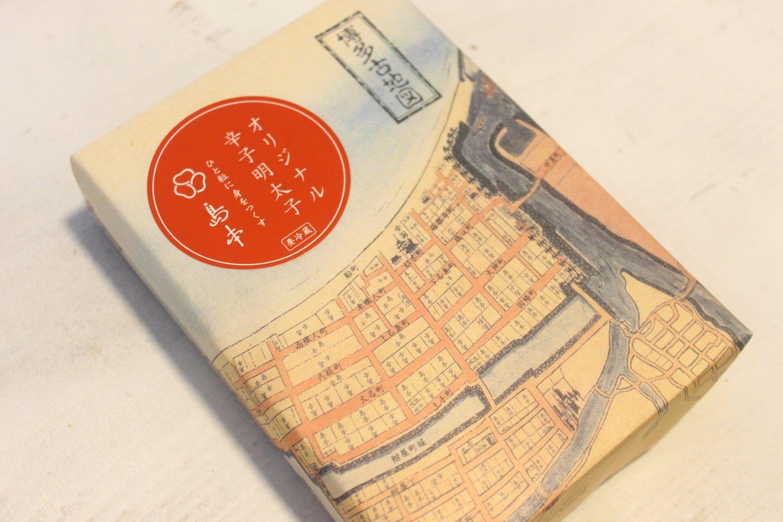 届いたのは福岡・博多にある島本の明太子。、40年にわたり創業当時の味を守り抜き、地元で愛されるメーカーなのだそう。