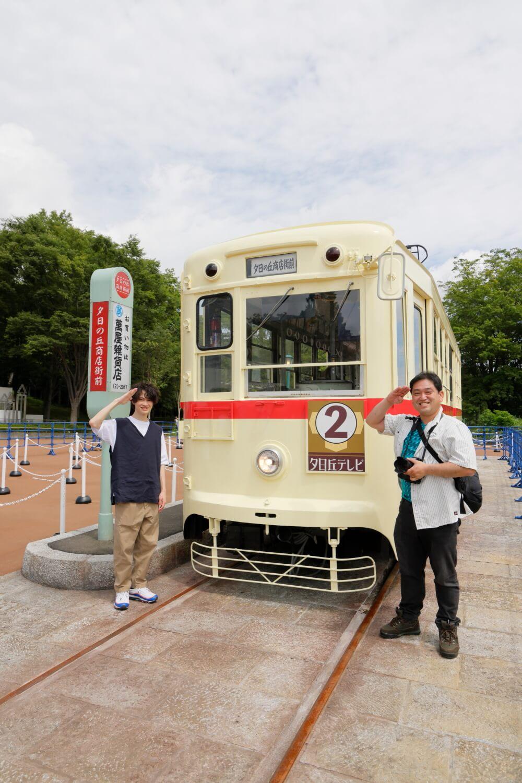 長崎電気軌道からやってきた1050形1051号。