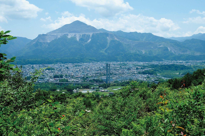 竹藪の巡礼古道を抜けると展望が開けて武甲山が見えた。ほっとする一瞬だ。