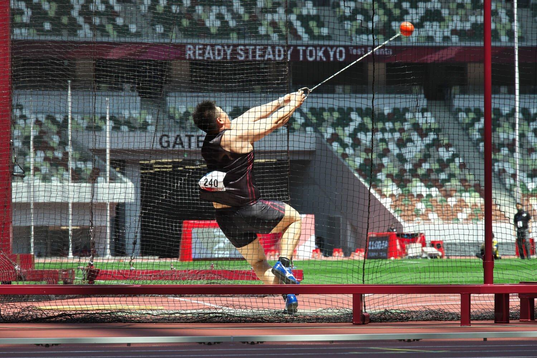 投てき競技は円盤投げ、やり投げなど男女8種目。