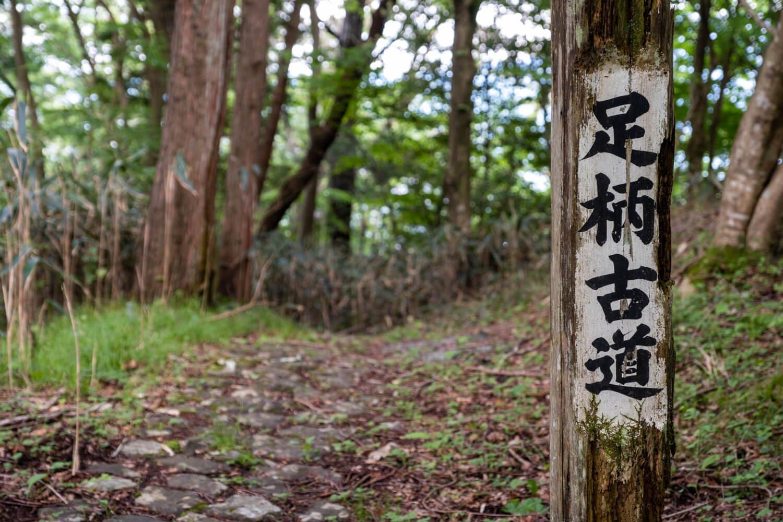 かつての街道の様子がうかがえる石畳も一部残る。