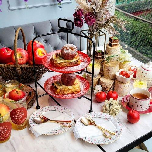 目黒川沿いの四季を楽しめるカフェ!『HAUTE COUTURE・CAFE』で林檎とチーズのアフタヌーンティーを堪能する~...
