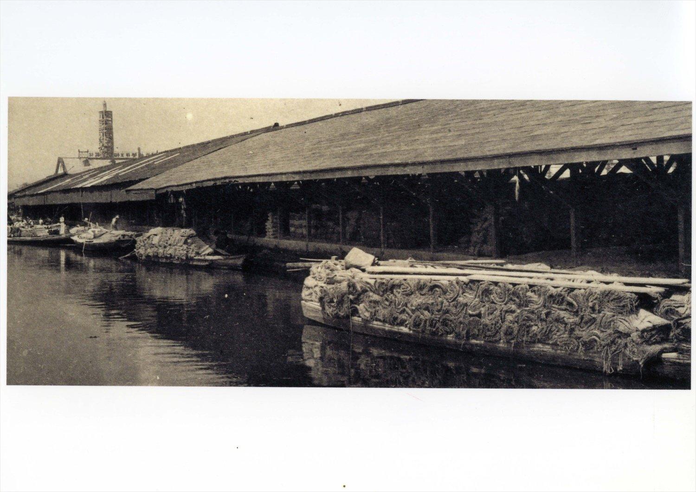 浅草駅時代(1910~31)にはこのようなドックもあり、物流の拠点だった。(提供=東武博物館)