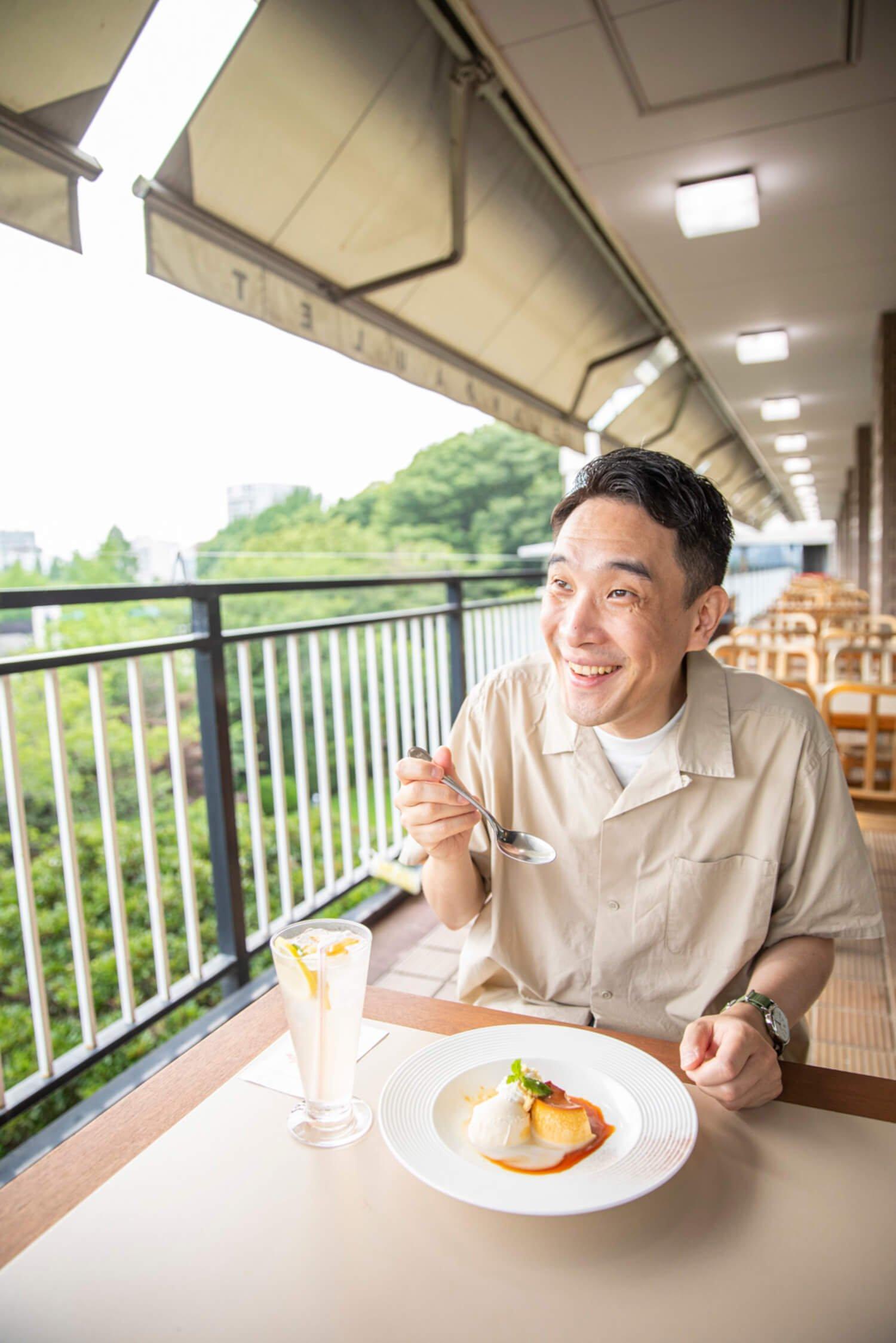 『上野精養軒 カフェラン ランドーレ』。「上野でお見合いならやっぱりここでしょ」「銀座通りを走る都電、 見たいですねぇ!」。