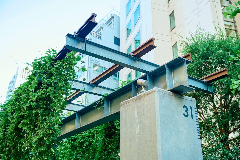 高架だった旧東横線路線再現パーゴラで栽培する、渋谷産ホップでのクラフトビール醸造計画が進行中だ。