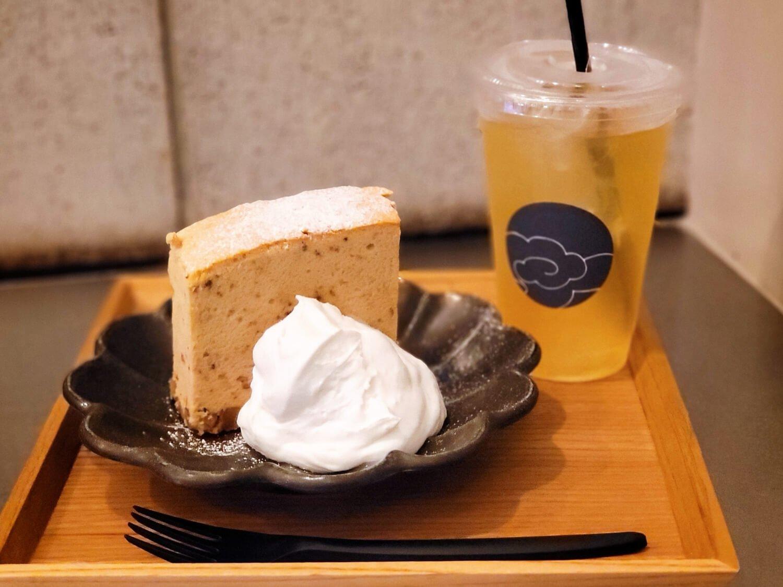 台湾カステラドリンクセット 黒糖胡桃 759円。