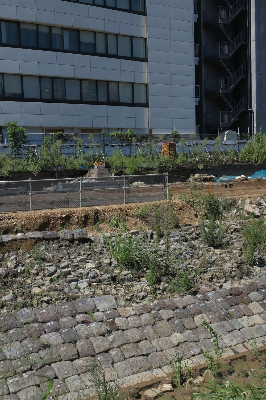 山手線が走っていた時代の「継電箱」と思われる黄色いボックスがまだ残っている。築堤と一緒に見える姿もあと少しだろう。