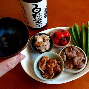 箸いらずのモツつまみに「白隠正宗 純米吟醸」 〜野外ライブではお酒が飲みたい。それが日本酒であればより最高です〜